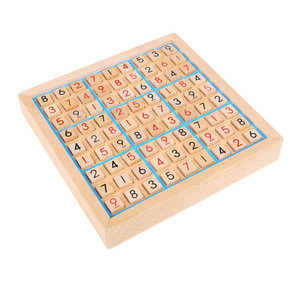 Educational Sudoku Math Games wooden toy sudoku Wooden Sudoku Board Game Puzzle with Wood