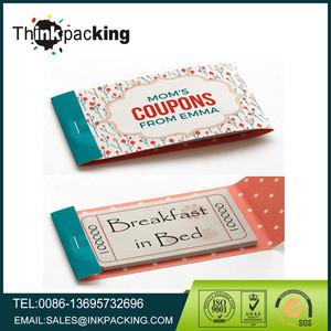 Entertainment Coupon Booklet,perforated coupon printing,Discount coupon book