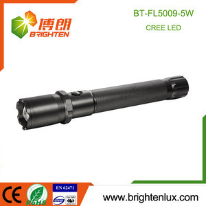 Factory Supply 3 D Cell Operated Portable Aluminum Material Bright Tactical Cree led Self Defensive Flashlight