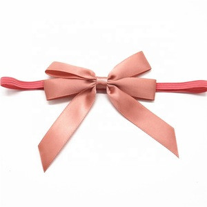 Fancy Machine Made  Gift Decorative Satin Ribbon Bow For Hair Band