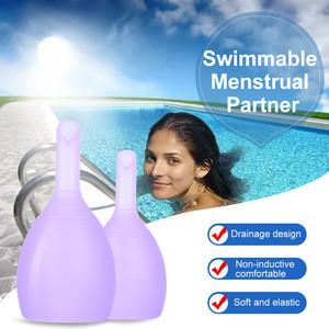 Feminine Hygiene Menstrual Cup Medical Grade Silicone Copita Reusable Lady Period Coletor Menstruation Copa With Discharge Valve