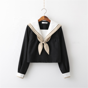 High quality pure cotton academic style Sailor uniform girls