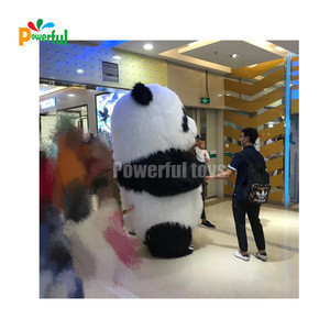Hot sale lovely inflatable panda character model for sale