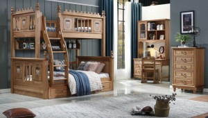Hot sales kids solid wood bunk bed