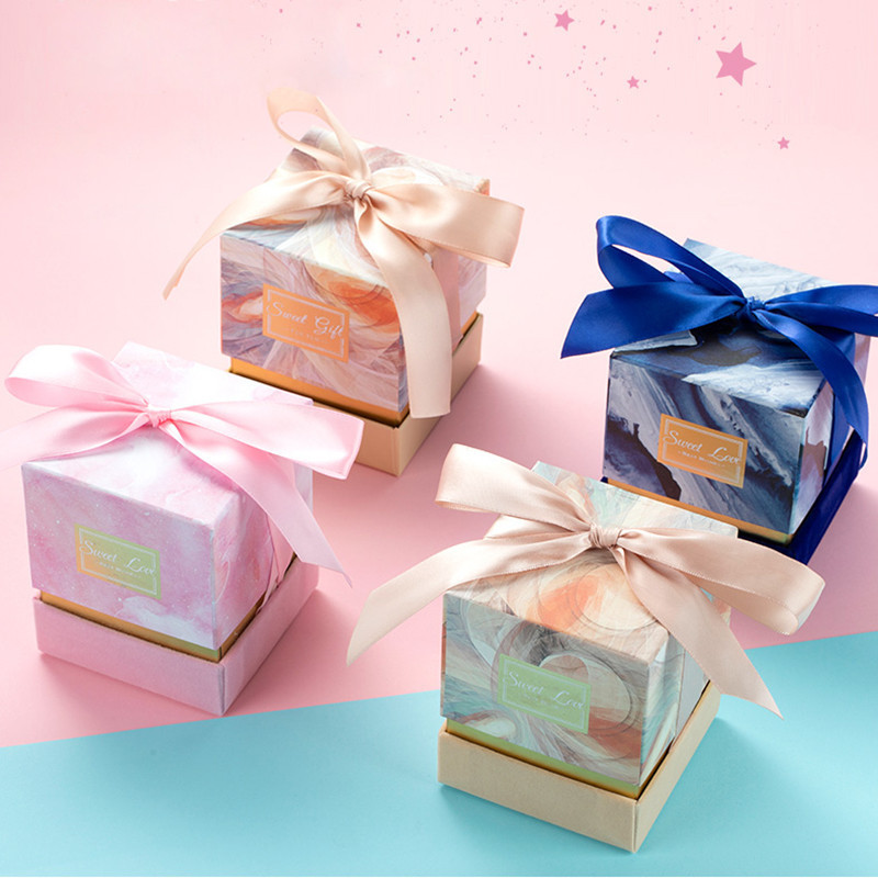 Luxury Marbled Custom Design Hot Stamping Logo Paper Box Small Gift Packaging Box