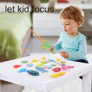 Magnetic Plastic Float Fishing for Kids With 20 Plastic Floating Fish & 1 Fishing Rod , 1 Pole Rod Net