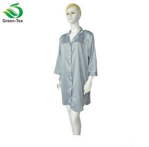 Matte Satin Nightshirts Fashion t shirt nightgown in pajamas