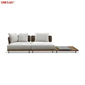 Modern Italian style luxury teak sofa outdoor in garden sets sectinals & loveseats quadrado outdoof furniture