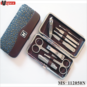 (MS-112050N) High Quality Stainless Steel Professional Nail Manicure Sets Nail Beauty Care Tool Set