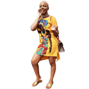 New fashion African girl print casual dress,African women's Dress