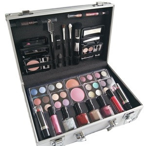 No Logo Cheap Complete Vanity Aluminium Beauty Cosmetic Gift Box Full Makeup Sets For Girls And Women
