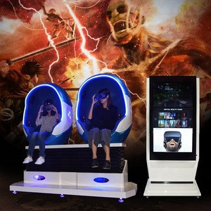 Other Amusement Park Products 9D Egg VR Cinema Simulator With 2 Seats
