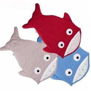 Outdoor camping organic cotton winter summer autumn spring soft star fish shark style baby sleeping bag for baby stroller