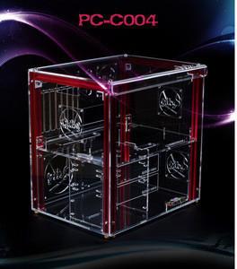 PC-C004L New Hot Sale Extra Large Custom Horizontal Acrylic Display Computer Case Design