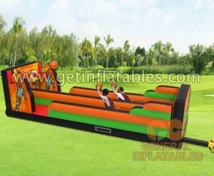 Popular Factory Price Commercial PVC Inflatable Basketball Bungee Run
