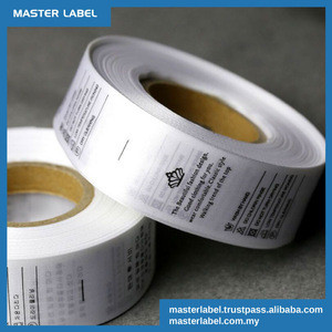 Satin Polyester Fabric Garment Washing Instructions Clothing Labels