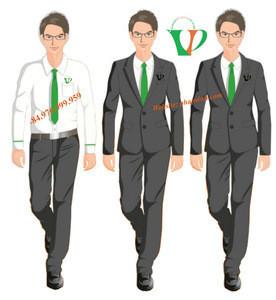 Tailor made bank uniform for men , Vinh Phap uniform in viet nam, cheap price uniform