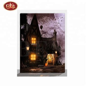 Timer lights painting with Halloween new design for wall decor