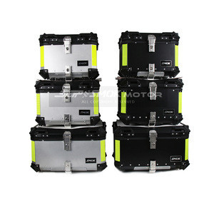 Top one supplier monthly sales 3000 sets  high quality aluminum tail box motorcycle accessories top case