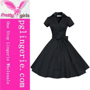 Trade Assurance High Quality Retro Ladies Official Dresses