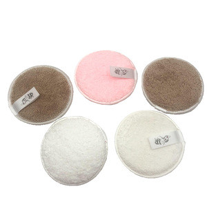 Wholesale Round Face Bamboo Washable Reusable Makeup Remover Pads Bamboo Make Up Remover Pads