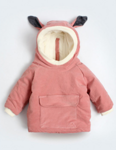 Winter Fall Warm Pure Cotton Thick Cute Baby Infant Toddler Hooded Outwear Coat
