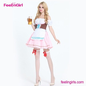 Womens Anime Cosplay French Apron Maid Fancy Dress Costume