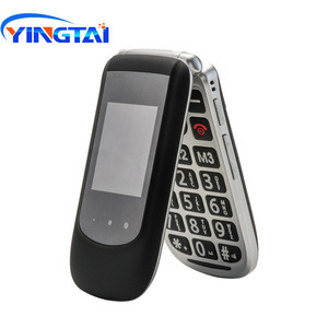 YINGTAI T09 Dual Screen Flip MobilePhone Cordless Fold Mobile Feature Clamshell For Elderly GSM Dual SIM Big Push Button FM SOS