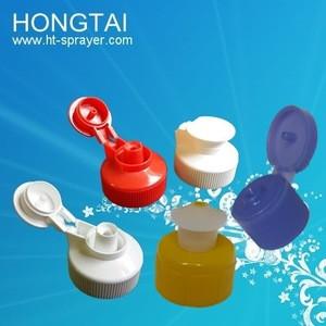 Yuyao 24mm 28mm Plastic Colorful Water Bottle Pull Push Cap lid Unique Closure