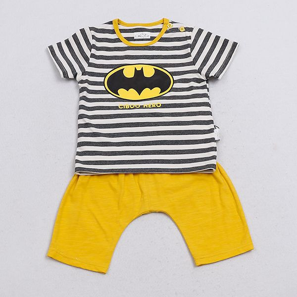 BATMAN Short Sleeve Baby Cloth Set
