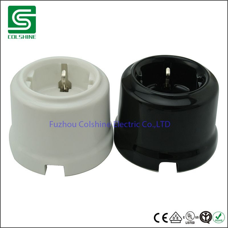 Porcelain Retro Light Switch Rotary Surface Mounted Wall Switches