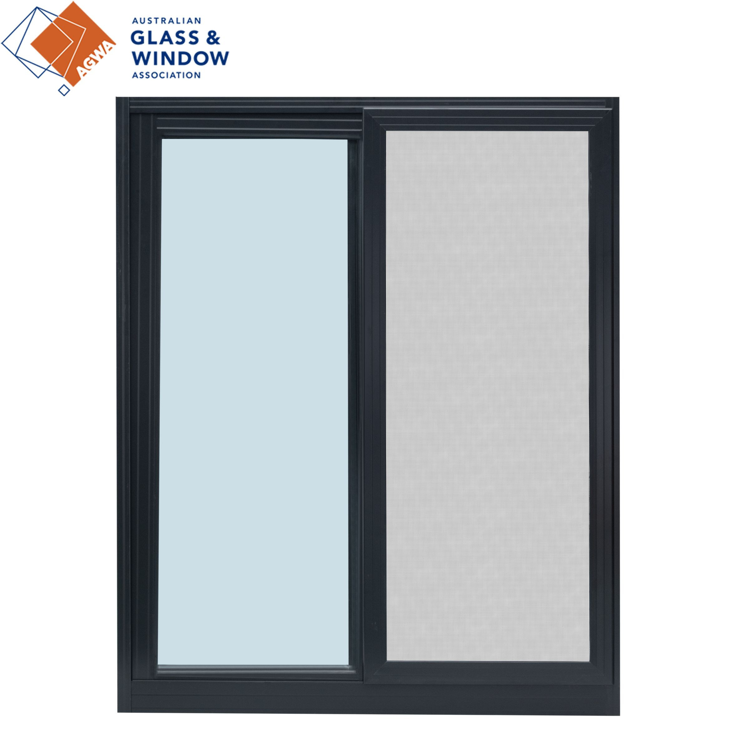 BARON Australian Glass & Window Association Australian Standards Double Glazed Aluminum Sliding Windows In Powder Coated Finish