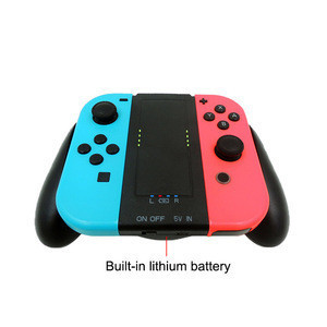 2000mA Battery Charging Station Grip Charger for Nintendo Switch Joy-con Controller Grip Charger