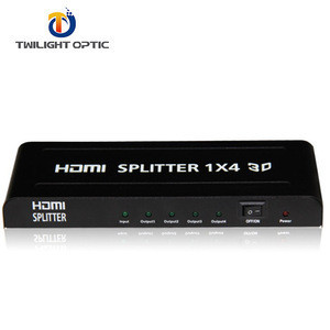 4 Way Splitter 1 In 4 Out Support 3D and 1080P Metal Case for Full HD HDTV PS3 PS4 Xbox Blu-ray Player