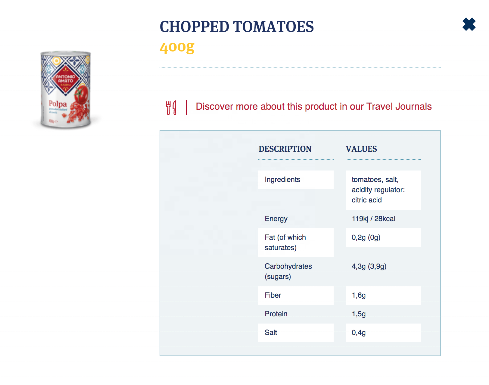 400g Canned Chopped Tomatoes Giuseppe Verdi Selection Vegetables made Italy