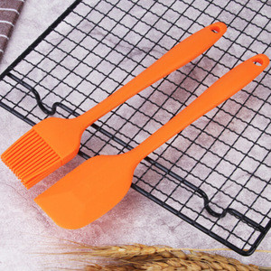 Baking Pastry Tools High Temperature Silicone Butter Spatula and Oil Brush Set