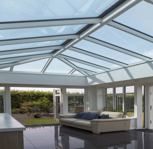 Bent tempered safety sunroom greenhouse skylight glass roof