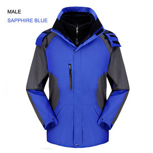 Best  Mens's 2 in 1  Fleece Lined Hooded  Breathable Waterproof Outdoor Jacket Sale