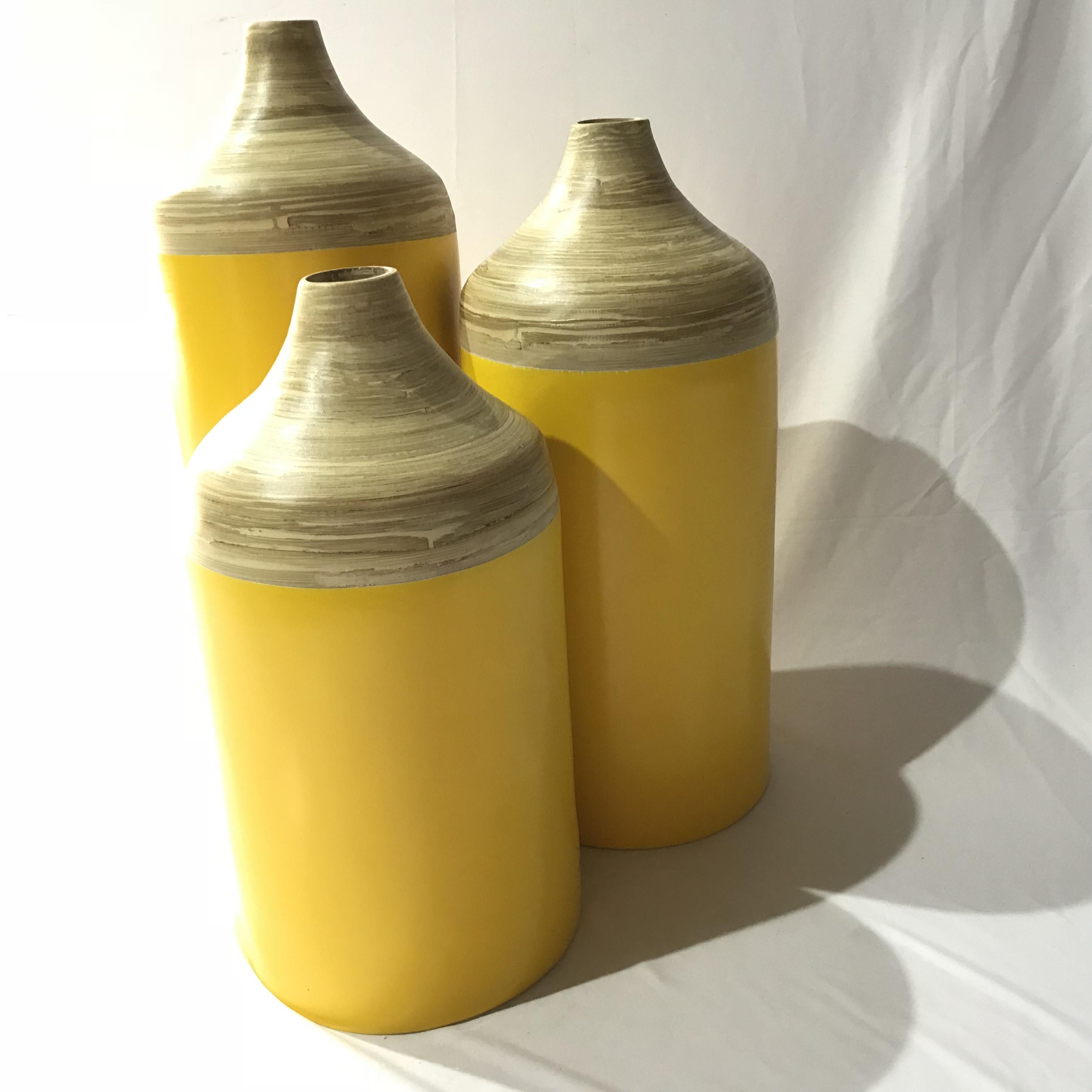Best selling high quality bamboo decor vase handmade from Viet Nam