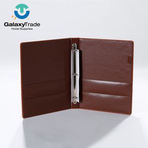 Cheap Price High Quality Faux Leather Popular Custom Hotel Service Guide A4 Pu Leather File Folder