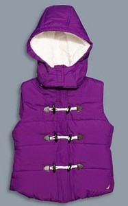Children fleece vest, children hooded vest, hooded velour vest