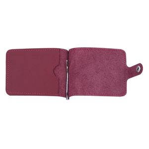 Clip for money Fisher Gifts v.1.0. red (leather)