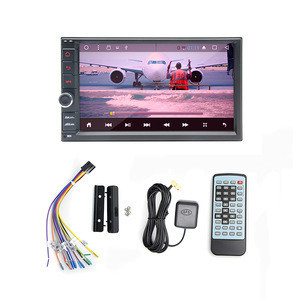 Double din Link IOS entertainment system car media player with Digital TV
