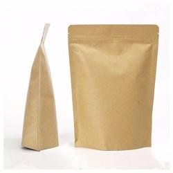 Dry food packaging bag resealable standup ziplock kraft paper bag