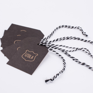 Factory custom printing widely use garment apparel hang tag for clothing