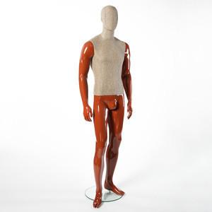 Fiberglass male fabric mannequin for european market
