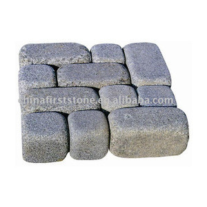 GCCB147 Chinese Hot Selling Natural Granite Castle Bricks for Wall and  Cubic Stone Cobble Paving Stone for Pavement or Driveway