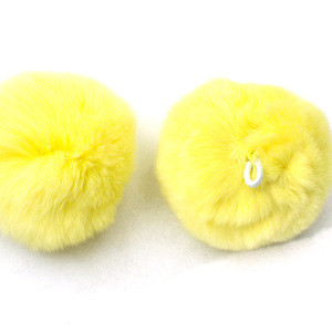 High-end Factory Direct Sales High Quality Custom 100% Real rex rabbit fur ball keychain fur pom poms accessory rabbit fur balls