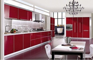 High Glossy and Modern UV MDF acrylic composite sheet for Kitchen Cabinet