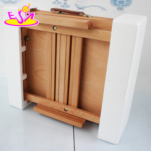 High quality baby wooden sketch easel, cheap children wooden sketch easel W12B065